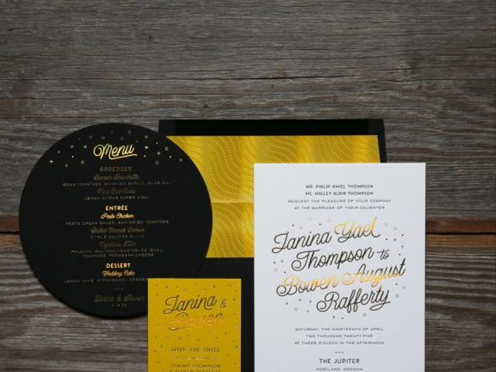 Tmx Halley Foil Stamped Wedding Invitations Suite 51 406417 162154711424593 Seattle, WA wedding invitation
