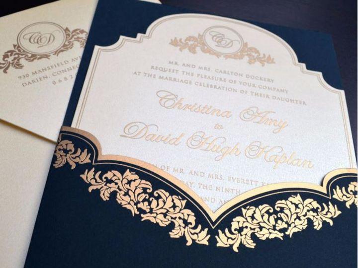 Tmx K 5004 Navy 51 406417 162154932671607 Seattle, WA wedding invitation