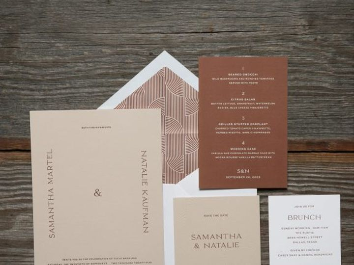 Tmx Kaufman Modern Typography Wedding Invitation Suite 51 406417 162154711544794 Seattle, WA wedding invitation