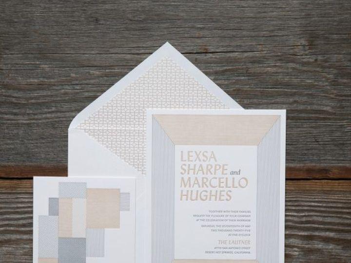 Tmx Lexsa Modern Letterpress Wedding Invitation Suite 51 406417 162154711411067 Seattle, WA wedding invitation