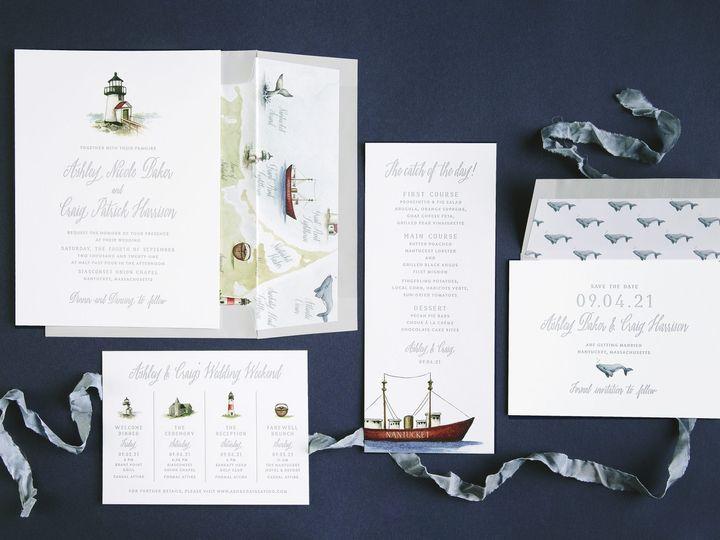 Tmx Lighthouse Letterpress Invitations 51 406417 162154711677295 Seattle, WA wedding invitation