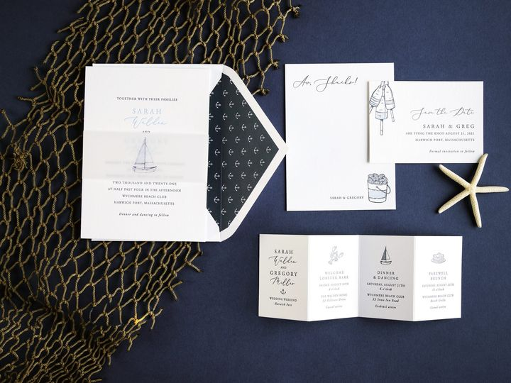 Tmx Sailor Letterpress Invitations 51 406417 162154711732424 Seattle, WA wedding invitation