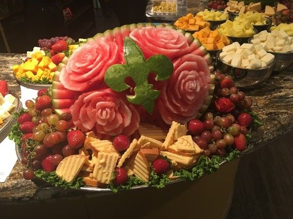 Cheeses with Carved Melon