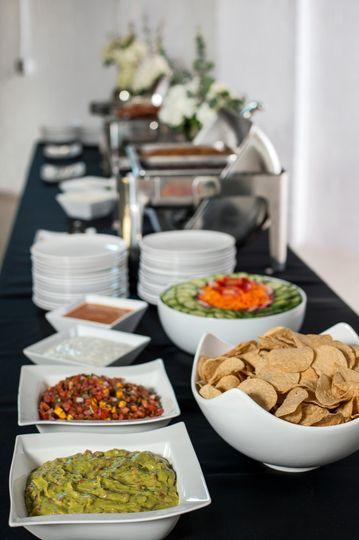 Upscale Buffet Setup