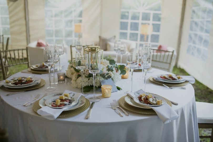 Reception Inside the Tent