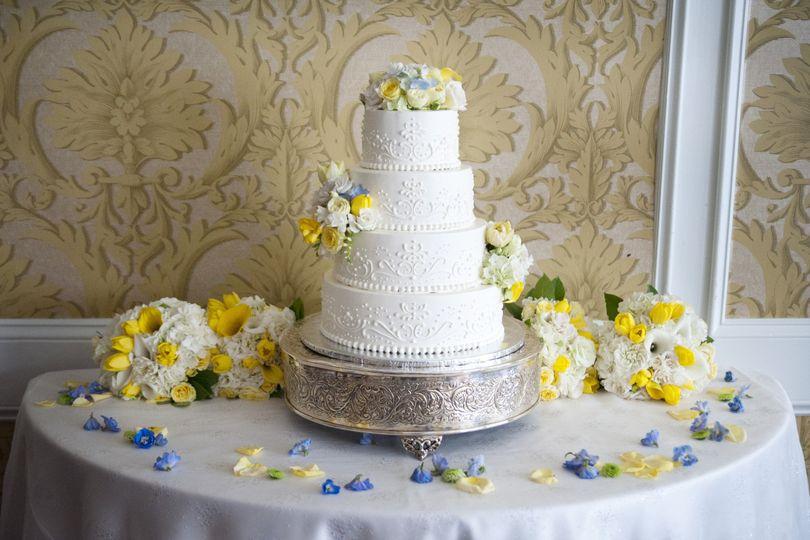 Four-layer cake