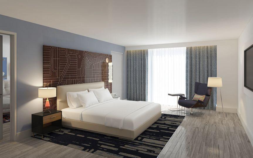 A modern guest room