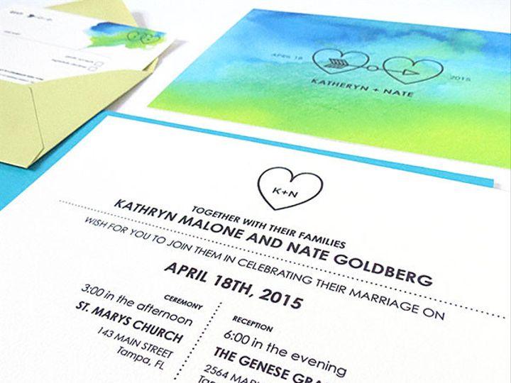 Tmx 1433473421647 Bluehomethumbs0002b.luewatercolor Scarsdale wedding invitation