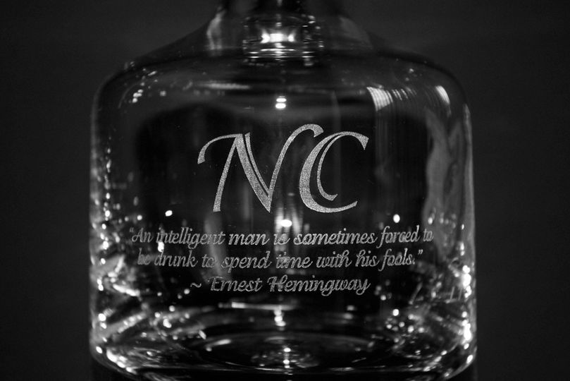 engraved buckingham decanter closeup 2