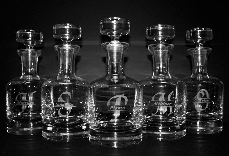 engraved buckingham decanters 6