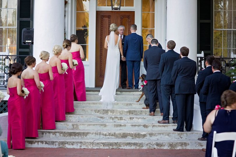 Entering the wedding venue
