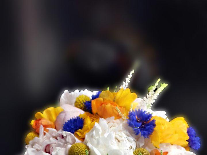 Tmx 1450305457412 Yellows Pinks And Cornflower Teaneck, NJ wedding florist