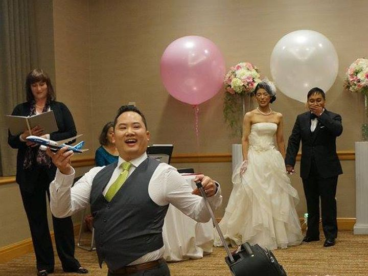 Tmx 1477611295505 Alfred Airplane Bellevue, WA wedding officiant