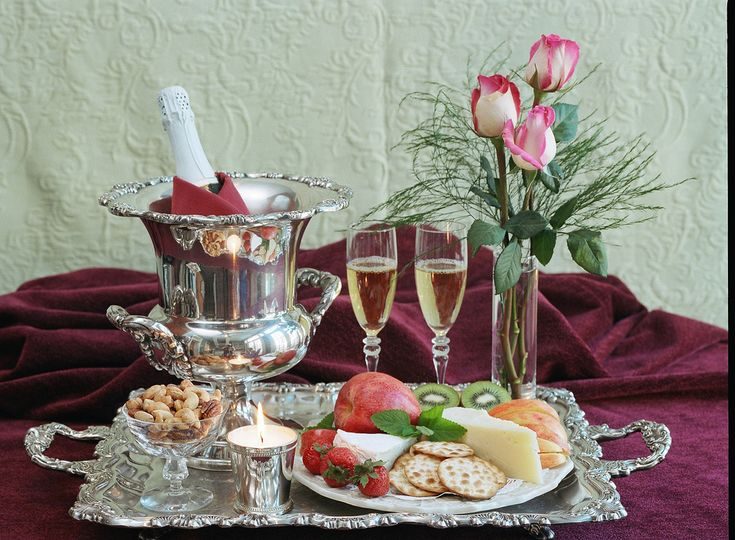 Wine, fruits, cheese and crackers