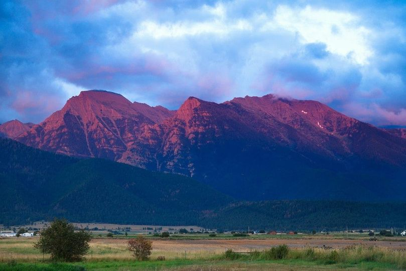 The mountains at dusk