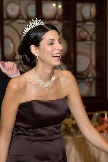 "Elegant bridesmaid for ""Grace Kelly"" inspired wedding."