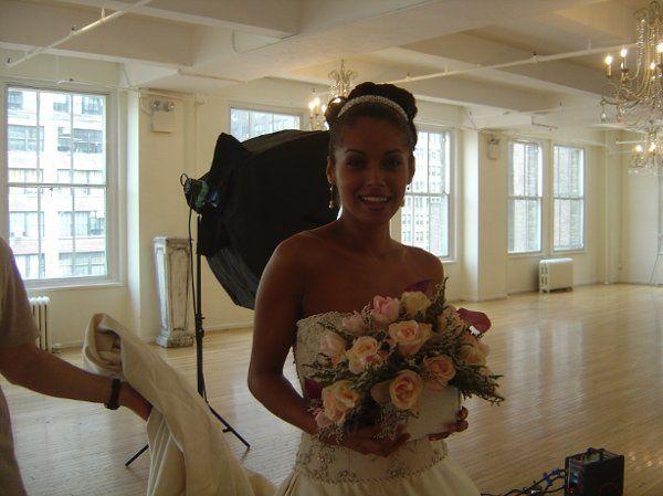 Behind the scenes for Manhattan Bride magazine shoot. So much fun!