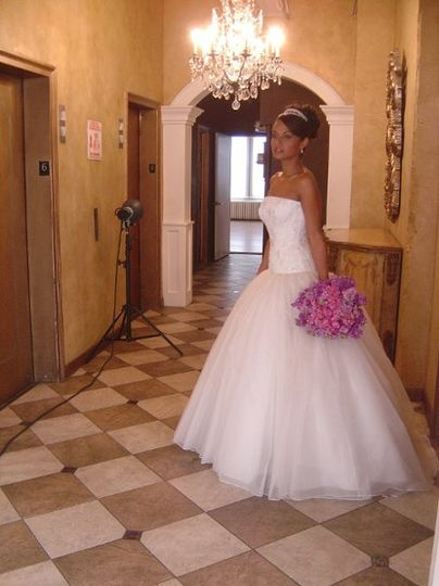 Another behind the scenes shot for Manhattan Bride magazine editorial.