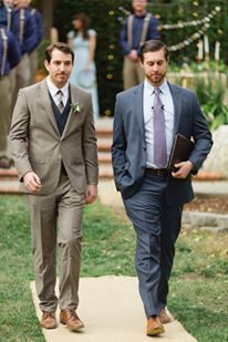 Walking with groom