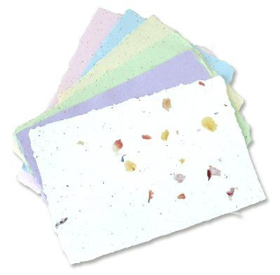 This eco-friendly paper is made with post-consumer waste and recycles itself into wildflowers when...