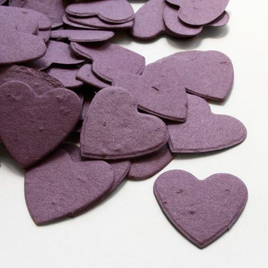 Plantable confetti is perfect for an eco-friendly wedding, or to use as green baby shower favors....
