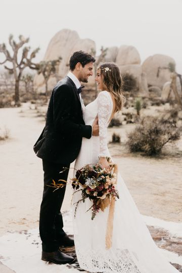 joshua tree bohemian elopement