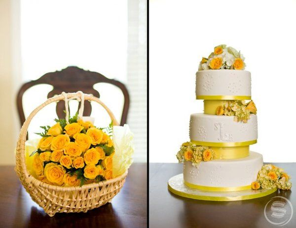 Flowergirl pomander & that gorgeous wedding cake!