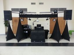 Sound and Lighting setup at Tuscarora Country Club in Danville, VA