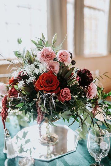 Custom floral centerpieces