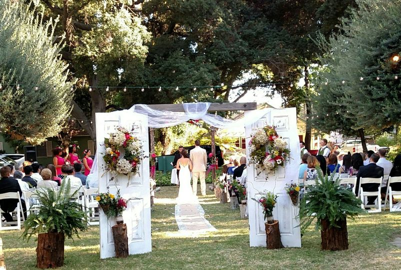 Ceremony olive tree lawn