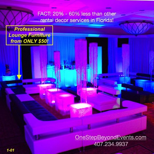 Sweet 16 lounge style party
