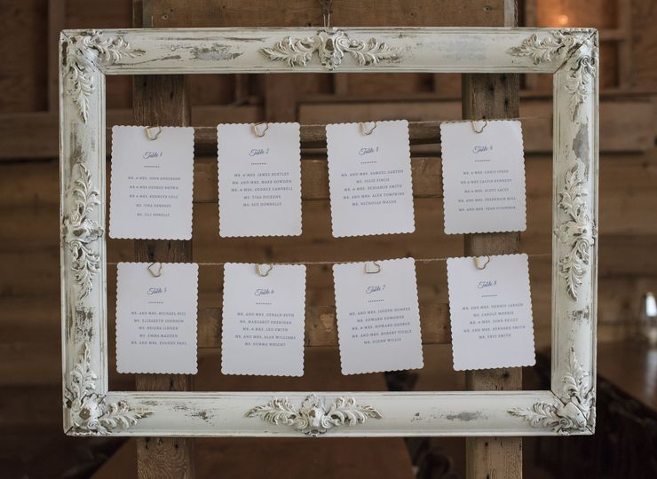 Table assignments | Boswick Photography