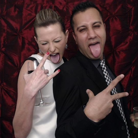 Photobooths are so much fun! The Dancin' Time Entertainment photobooth prints high quality photos...
