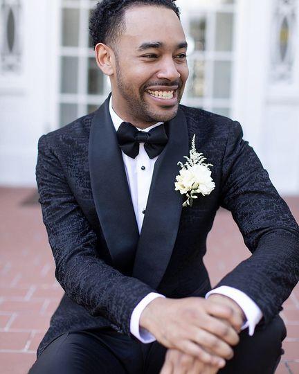 Premium black textured tuxedo