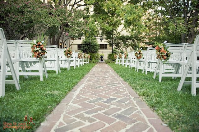 Wedding ceremony in our secluded urban garden  Image courtesy Live It Out Photography