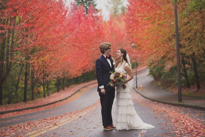 Rainy Oregon wedding