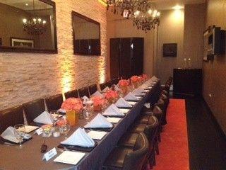 Long table setup at Kinzie Chophouse