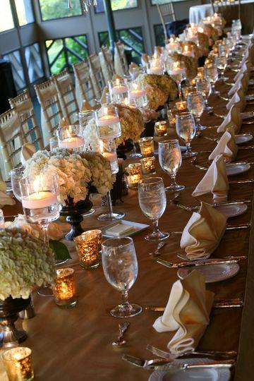 Dining hall set up