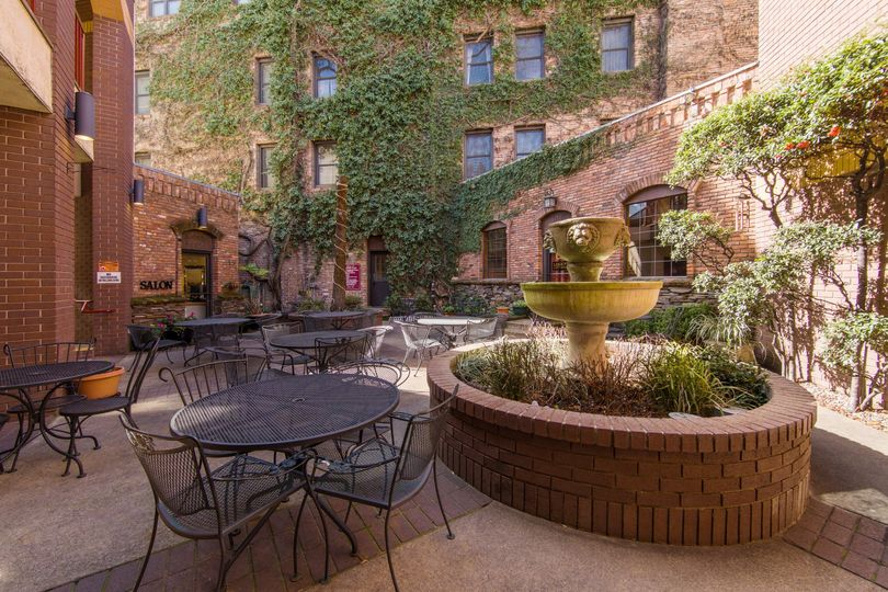 Brick Courtyard with Ivy