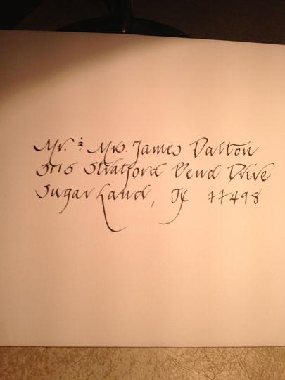 Stunning hand-written calligraphy