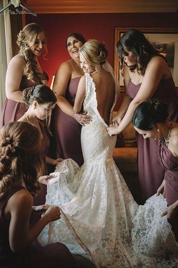 Wedding day dress up
