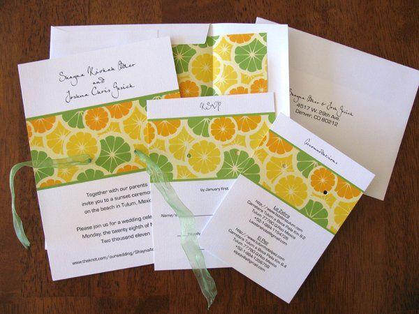 Tmx 1290560713254 Lemon2b Ventura wedding invitation