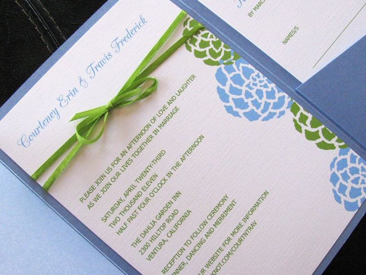 Tmx 1341598870881 Blooms1 Ventura wedding invitation