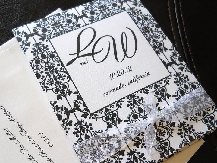 Tmx 1341598881642 Damaskmatchbook1 Ventura wedding invitation