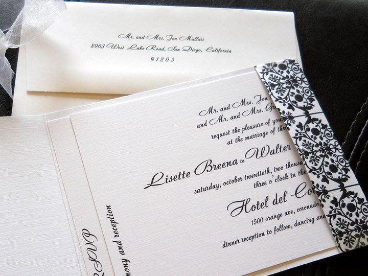 Tmx 1341598885229 Damaskmatchbook3 Ventura wedding invitation