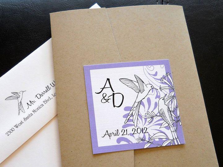 Tmx 1341598932898 Hummingbirdpockettaupe1 Ventura wedding invitation