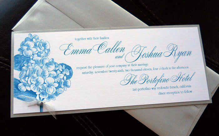 Tmx 1341598942109 Hydrangea1 Ventura wedding invitation