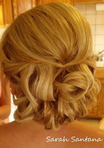 bridal updo chignon of curls