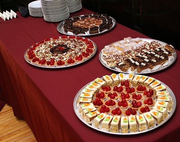 A local patisserie provided a delicious sweet table