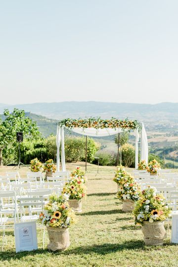 Ceremony venue decoration